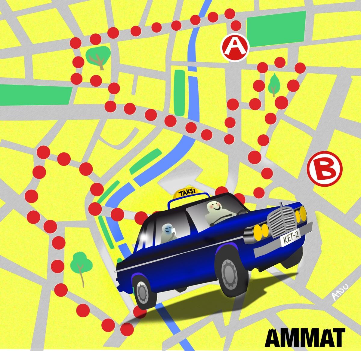 Tutkimattomia ovat taksikuskien tiet